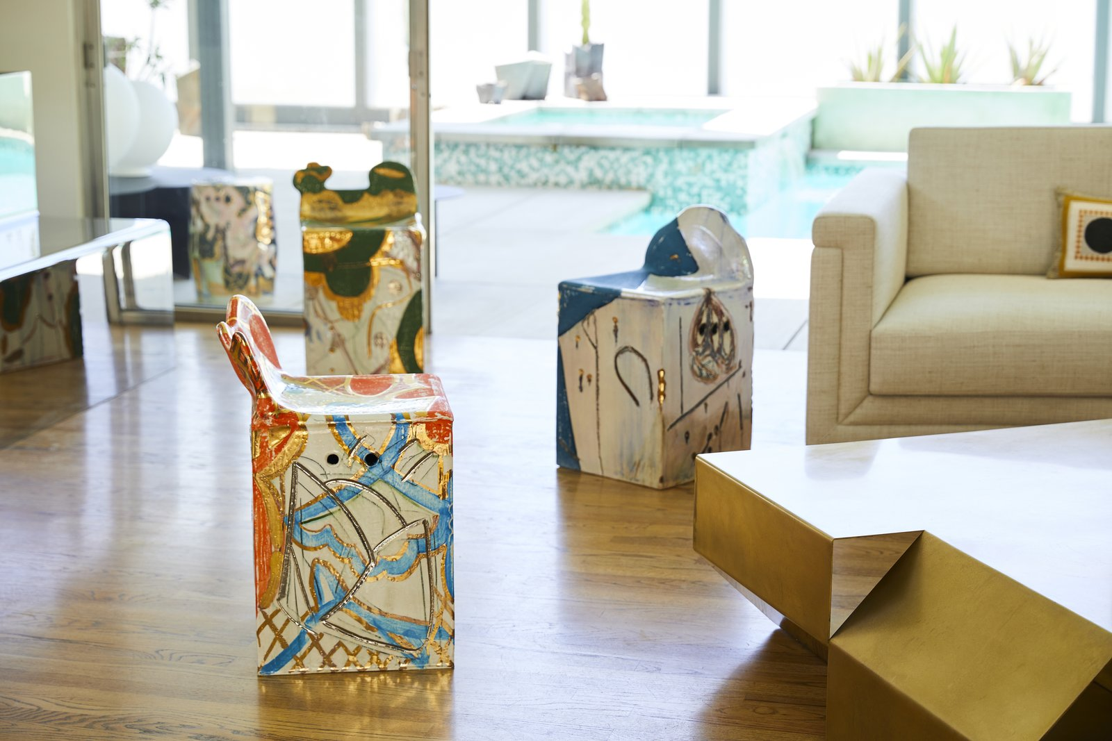 Sanguino views his own work as abstract art designed to live in the center of a room.  Photo 3 of 10 in Casa Perfect Debuts Reinaldo Sanguino's Vibrant Ceramics Inspired by '90s Graffiti Culture