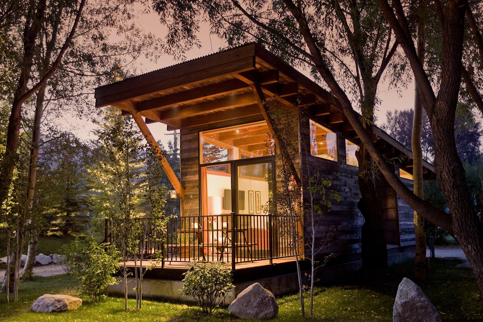 Wedge tiny home exterior