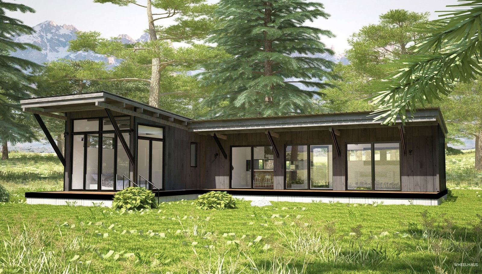 The Wedge-inspired Hitch-Haus 1000 model  Photo 4 of 10 in These Customizable Modular Homes Can Make Your Tiny House Dreams Come True