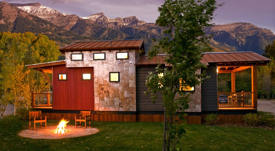 Exterior, Tiny Home Building Type, and Wood Siding Material The Park Model  Photo 2 of 10 in These Customizable Modular Homes Can Make Your Tiny House Dreams Come True