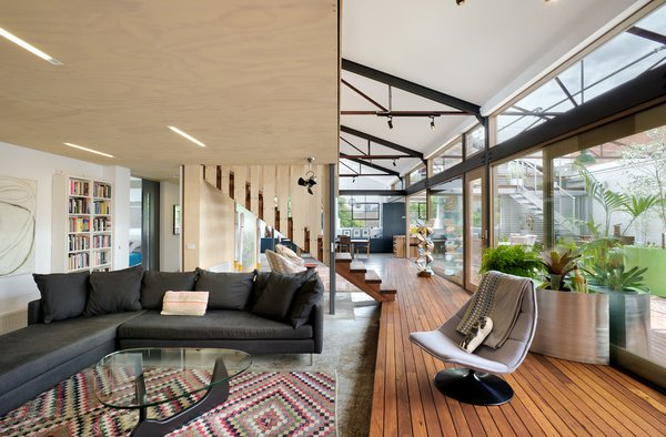 The spirit of retain and re-use guided the design behind the conversion, and was applied to all aspects of the project.