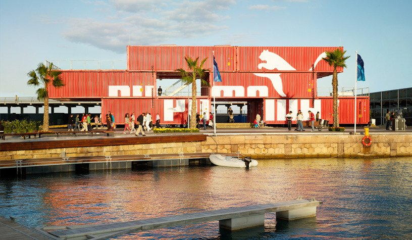 Exterior, Shipping Container Building Type, Metal Roof Material, Flat RoofLine, and Metal Siding Material Photography:Danny Bright  Photo 11 of 16 in 5 Best Retailers in Upcycled Shipping Containers