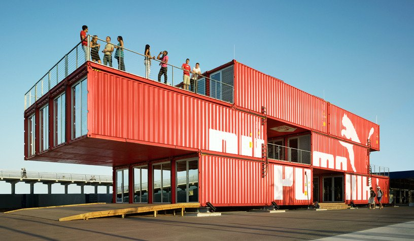 Exterior, Shipping Container Building Type, Metal Siding Material, and Flat RoofLine Photography:Danny Bright  Photo 12 of 16 in 5 Best Retailers in Upcycled Shipping Containers