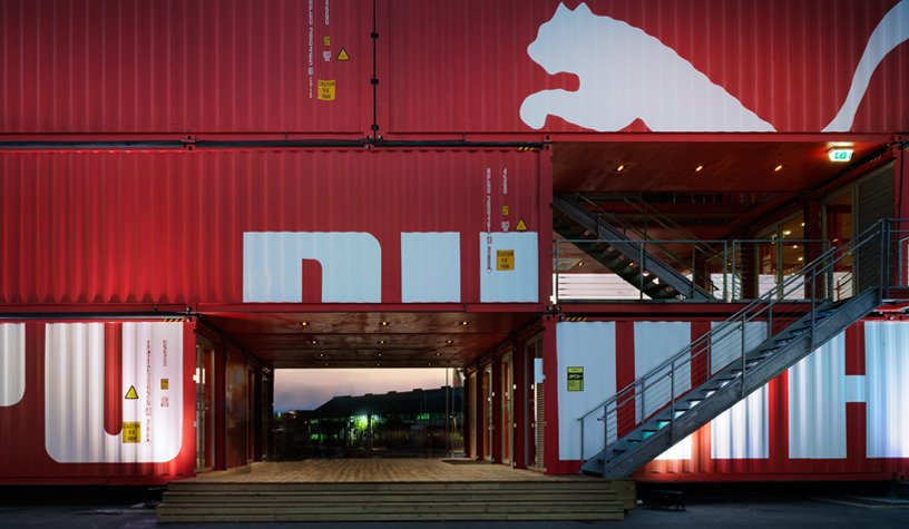 Exterior, Shipping Container Building Type, Metal Roof Material, Metal Siding Material, and Flat RoofLine Photography:Danny Bright  Photo 13 of 16 in 5 Best Retailers in Upcycled Shipping Containers