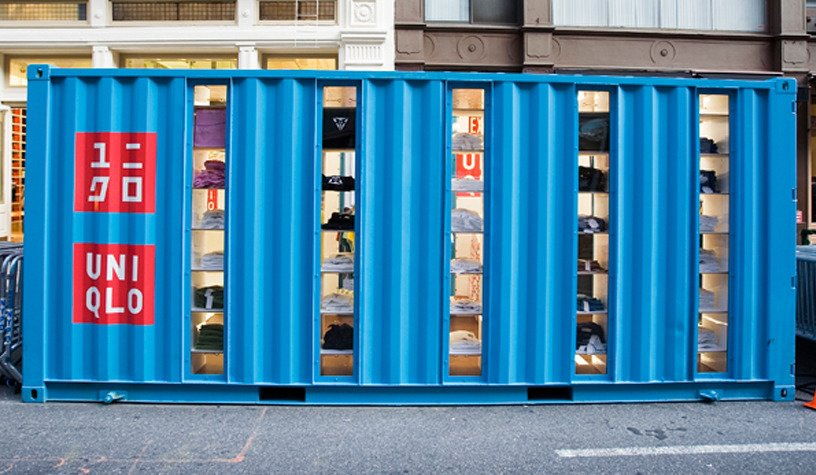 Exterior, Shipping Container Building Type, Metal Roof Material, Glass Siding Material, Flat RoofLine, and Metal Siding Material Photography:Danny Bright  Photo 15 of 16 in 5 Best Retailers in Upcycled Shipping Containers