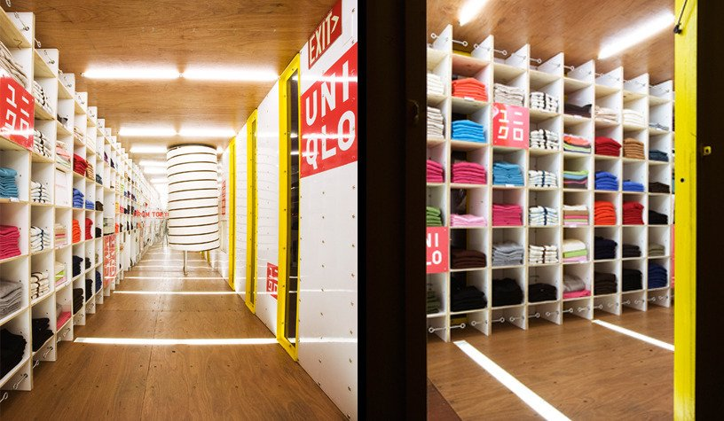 Hallway and Medium Hardwood Floor Photography:Danny Bright  Photo 16 of 16 in 5 Best Retailers in Upcycled Shipping Containers