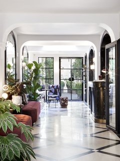 Just a few steps off Paris' Grands Boulevards, Hôtel Bienvenue received a colorful and modern redesign by interior designer Chloé Nègre. Housed in the former Hôtel Villa Fenelon, the renovation of the century-old structure marks the first hotel project for Chloé Nègre, a former protégée of architect and designer India Mahdavi. Hôtel Bienvenue is the latest addition to hotelier Adrien Gloaguen's portfolio, which also includes Hôtel Panache and Hôtel Paradis. True to its name, the hotel welcomes every guest like a member of the family.