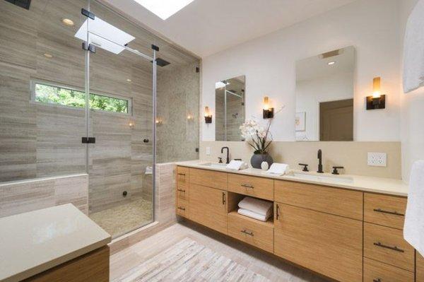 The zen-like spa bathroom.