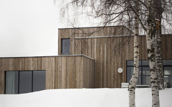 Exterior, Flat RoofLine, House Building Type, and Wood Siding Material Add a captio  Photos from A Cubic Dwelling in Norway Just Oozes Hygge