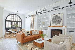 The light-filled, lovely living room of 411 Vanderbilt.