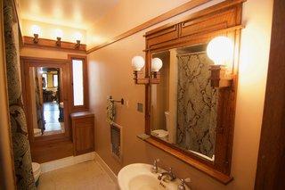 Charming vintage original bathroom fixtures