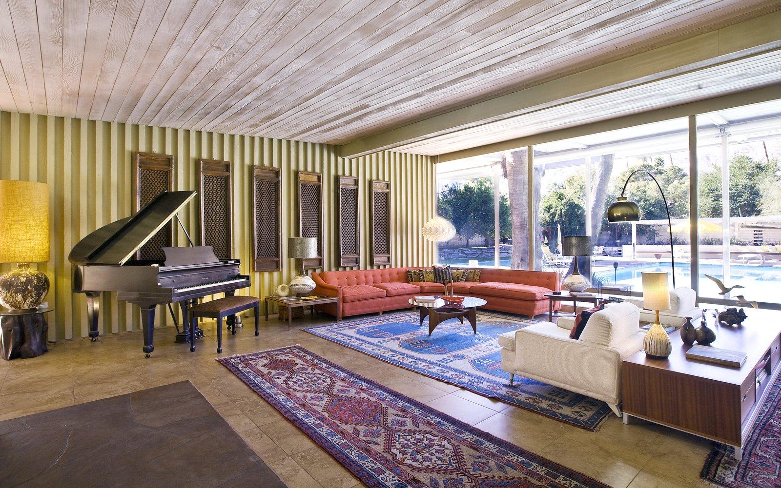 Koerner House E. Stewart Williams palm springs renovation living room