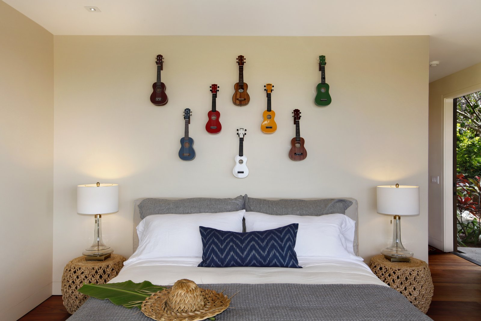 Bedroom, Night Stands, Ceiling Lighting, and Bed One of the other bedrooms.  Photo 7 of 14 in A Breezy Hawaiian Residence by Olson Kundig Hits the Market at $6.95M