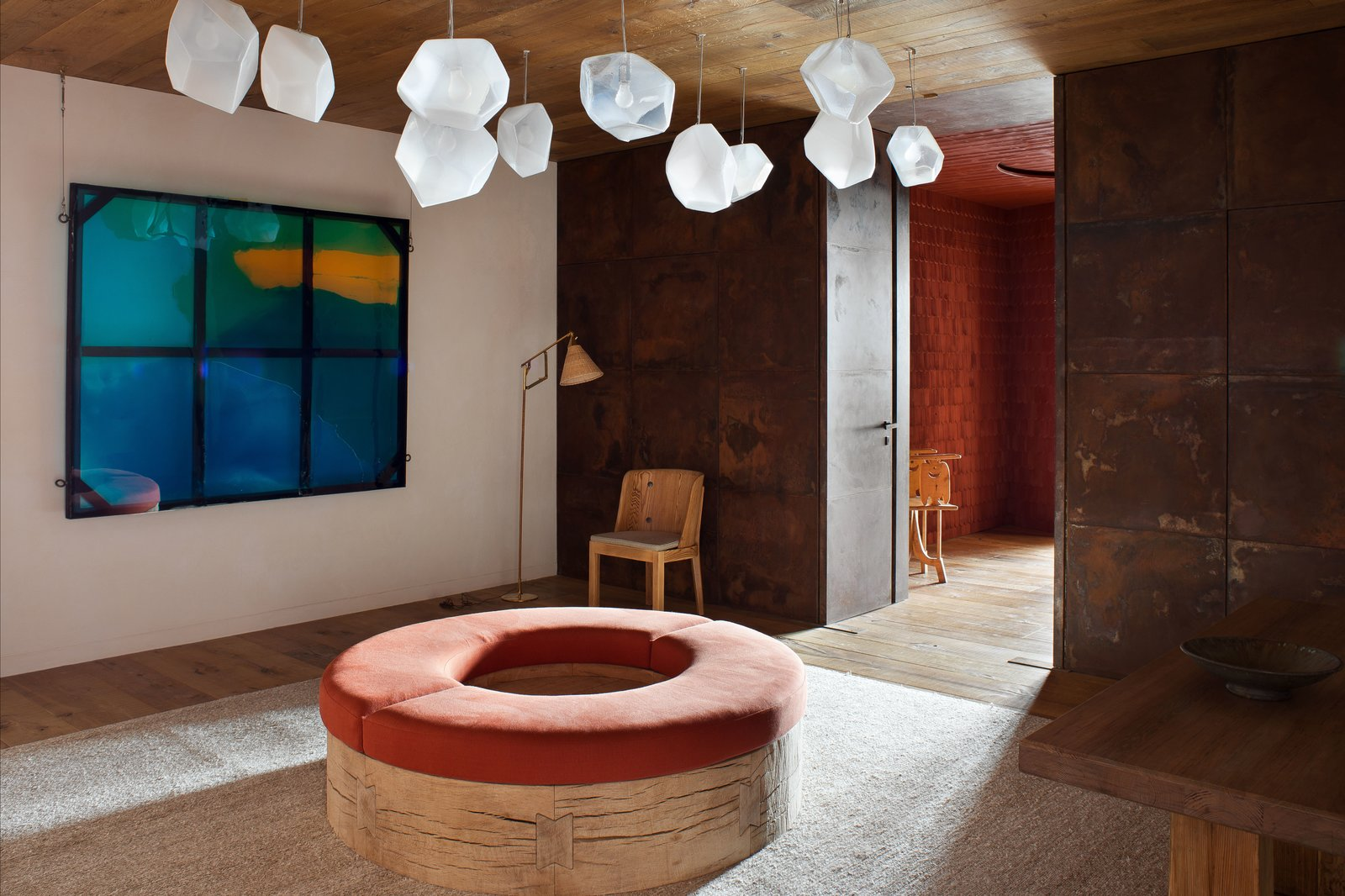 Hallway And Light Hardwood Floor Hand N Salt Crystal Lights By Jeff Zimmerman Hang Above