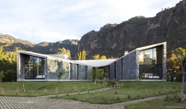 A Commanding Mexican Home of Stone and Concrete Is For Sale