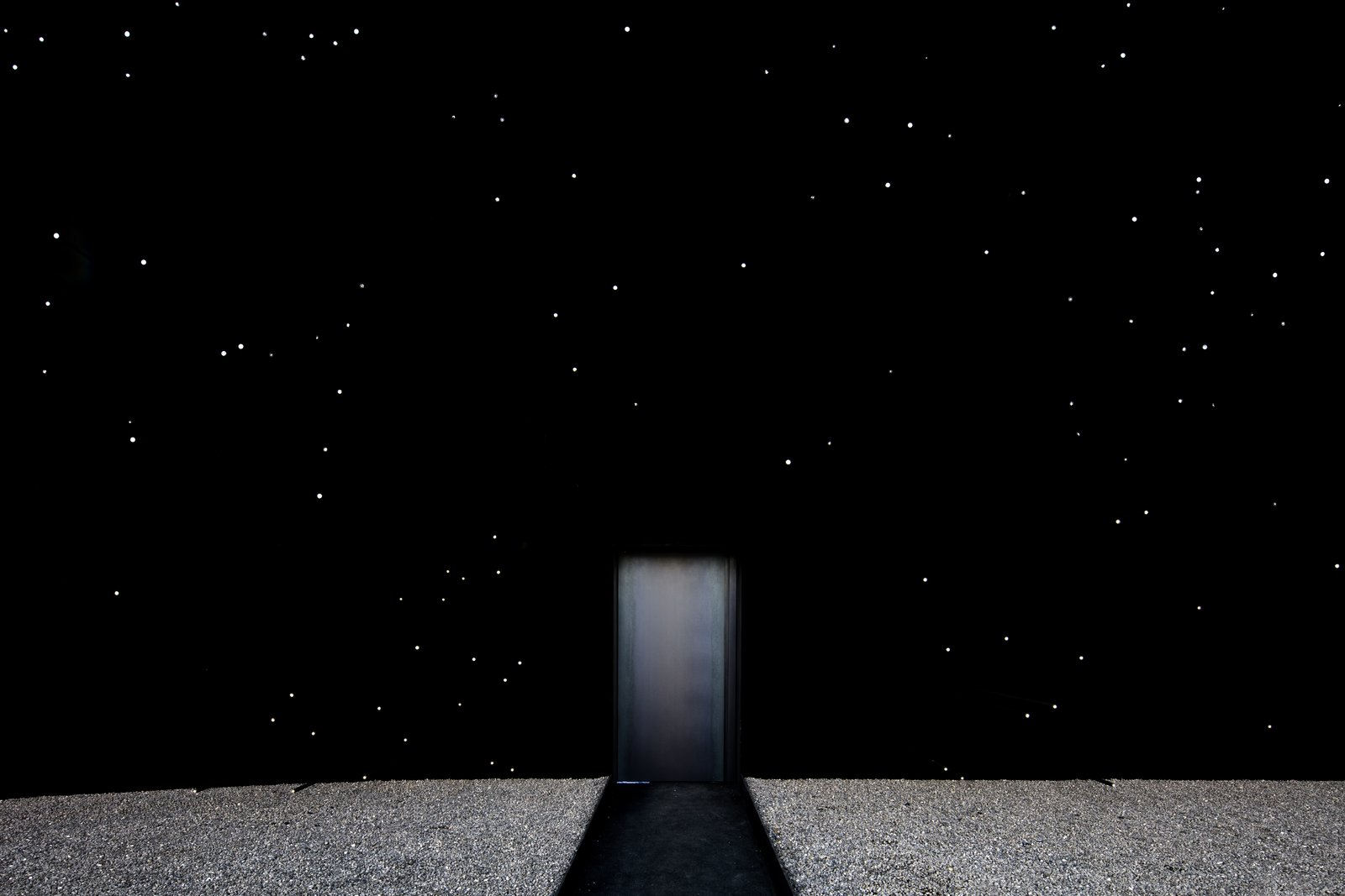 Doors, Exterior, and Metal Asif Khan has been working with the manufacturers of Vantablack since 2013 and proposed its use in his shortlisted proposal for the UK Pavilion at Milan Expo 2015.  Photo 3 of 11 in The PyeongChang Winter Olympics in South Korea Debuts the Darkest Building on Earth