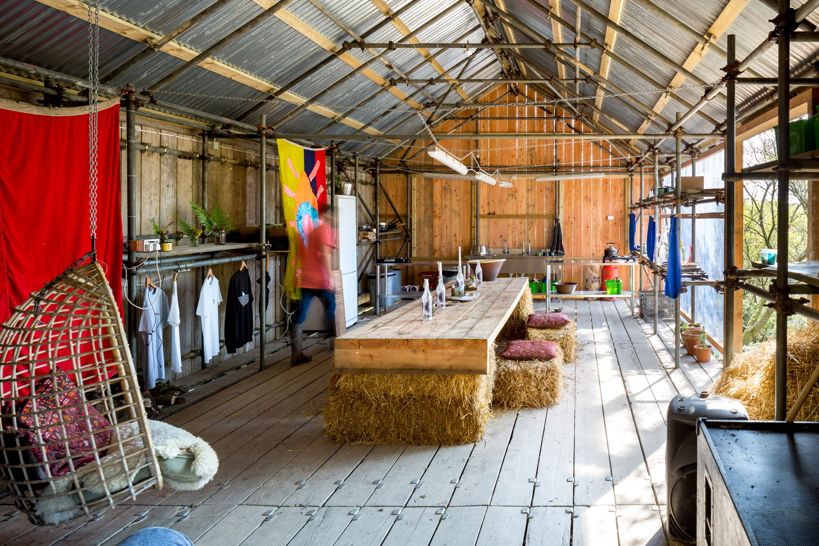 Shed & Studio and Living Space Room Type The communal reception building.  Photo 11 of 12 in Go Off The Grid With These Remote Rental Cabins in Cornwall
