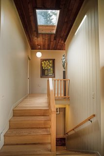 The skylight in the hallway allows for even more natural light.