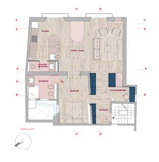 Apartment in Born floor plans.