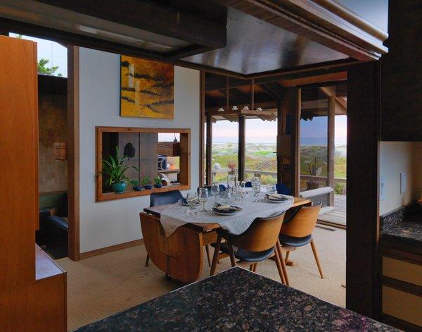 The dining room enjoys the same special views.