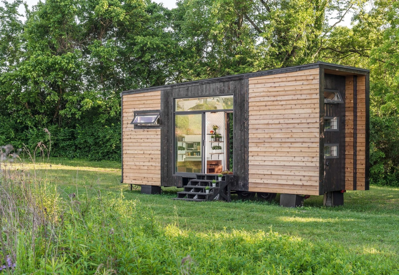 best tiny house companies wood exterior