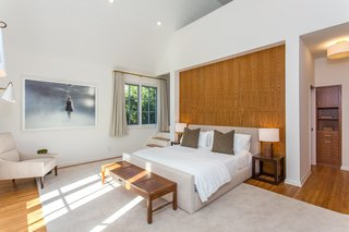 One of the beautifully renovated bedrooms.