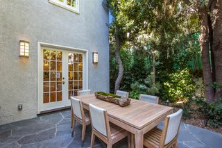 The outdoor space includes room for alfresco dining.