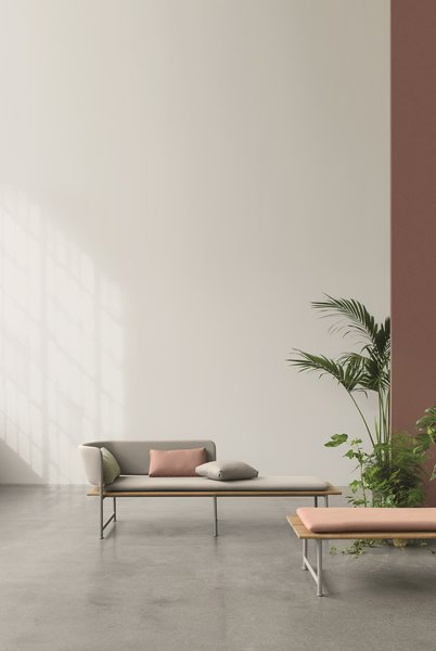 For Gloster's new Atmosphere collection, Danish designer Cecilie Manz observed people interacting as they sat and created furniture that would feel natural and welcoming for relaxation and unwinding.