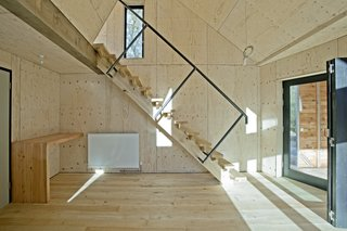 As far as Invisible Studio is aware, the Caretaker's House is the world's first green timber building insulated to Passive House standards, and with Passive House airtightness.