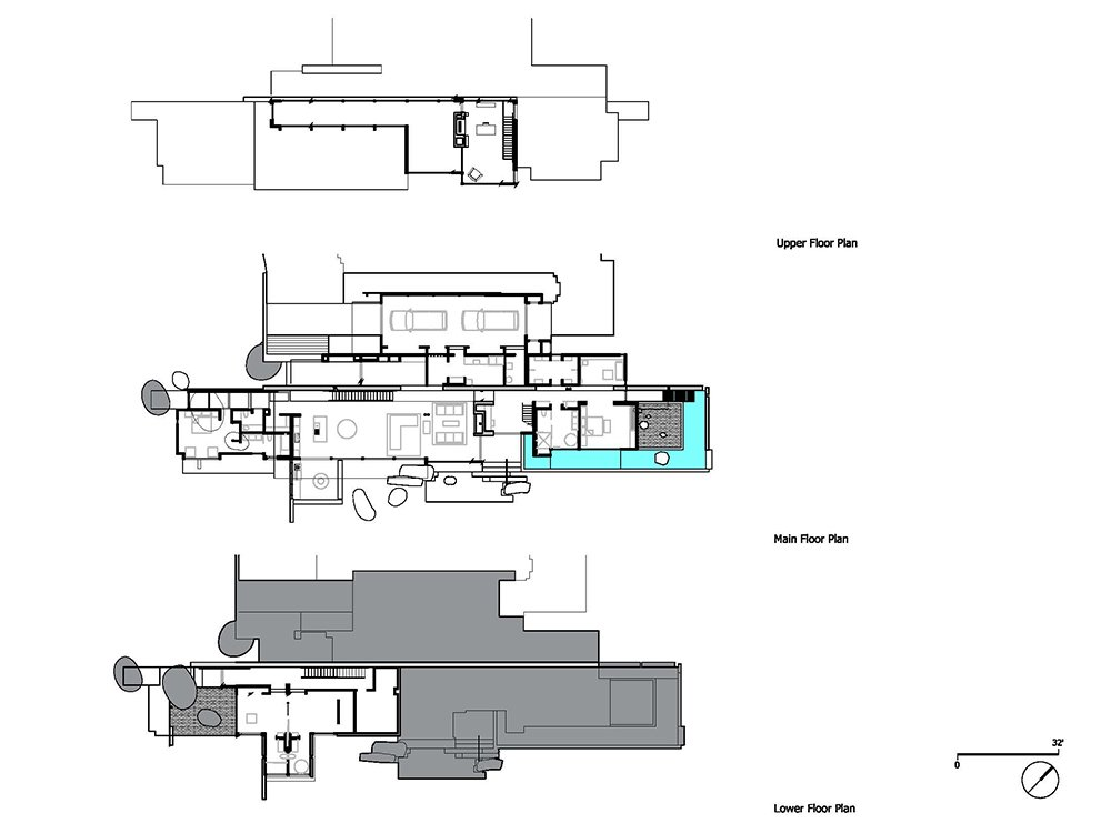 The floor plan.  Photo 16 of 18 in This Concrete Abode Stretches Over Giant Boulders