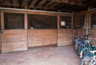 The barn could conceivably be transformed into a studio space.