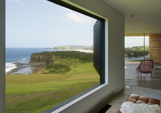 Instead of providing the same view throughout the house, the design creates thoughful framed views of the surroundings.