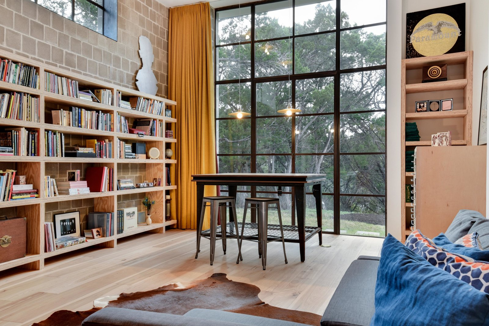 Shed & Studio and Living Space Room Type A workspace in the studio.  Photo 14 of 22 in Own This Alluring Sculptural Abode in Austin For $3.1M