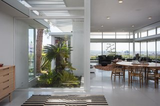 Ample glazing provides a strong sense of indoor/outdoor living.