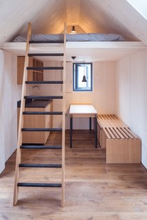 An internal mezzanine makes an ideal sleeping space.