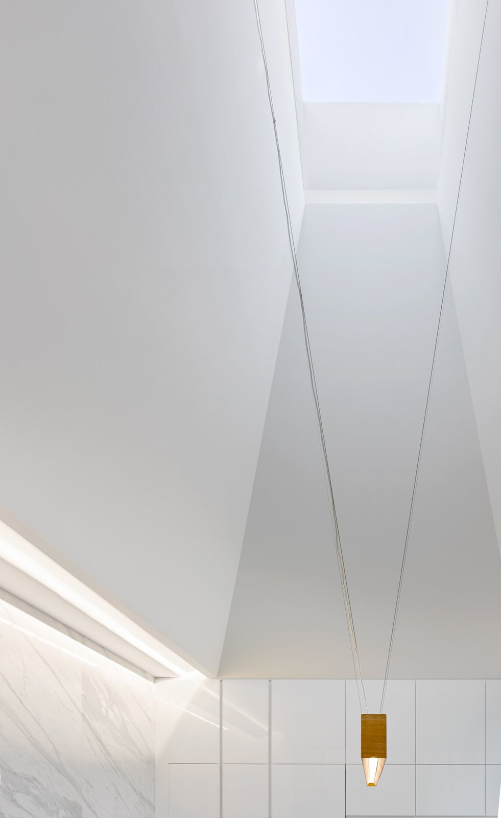 Windows and Skylight Window Type A detail of the ceiling design.  Photo 4 of 12 in This Award-Winning Home in Canada Allows Two Generations to Live Under One Roof