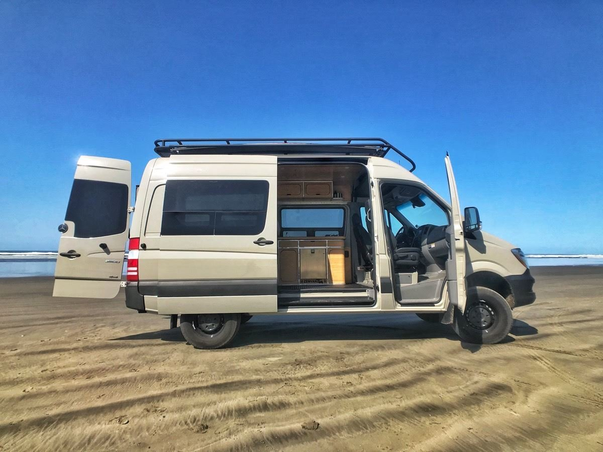 Exterior and Camper Building Type This 2017 ZENVANZ 4x4 Sprinter in Stone Gray just sold  Photo 3 of 14 in 7 Van Conversion Companies That Will Do the Legwork For You