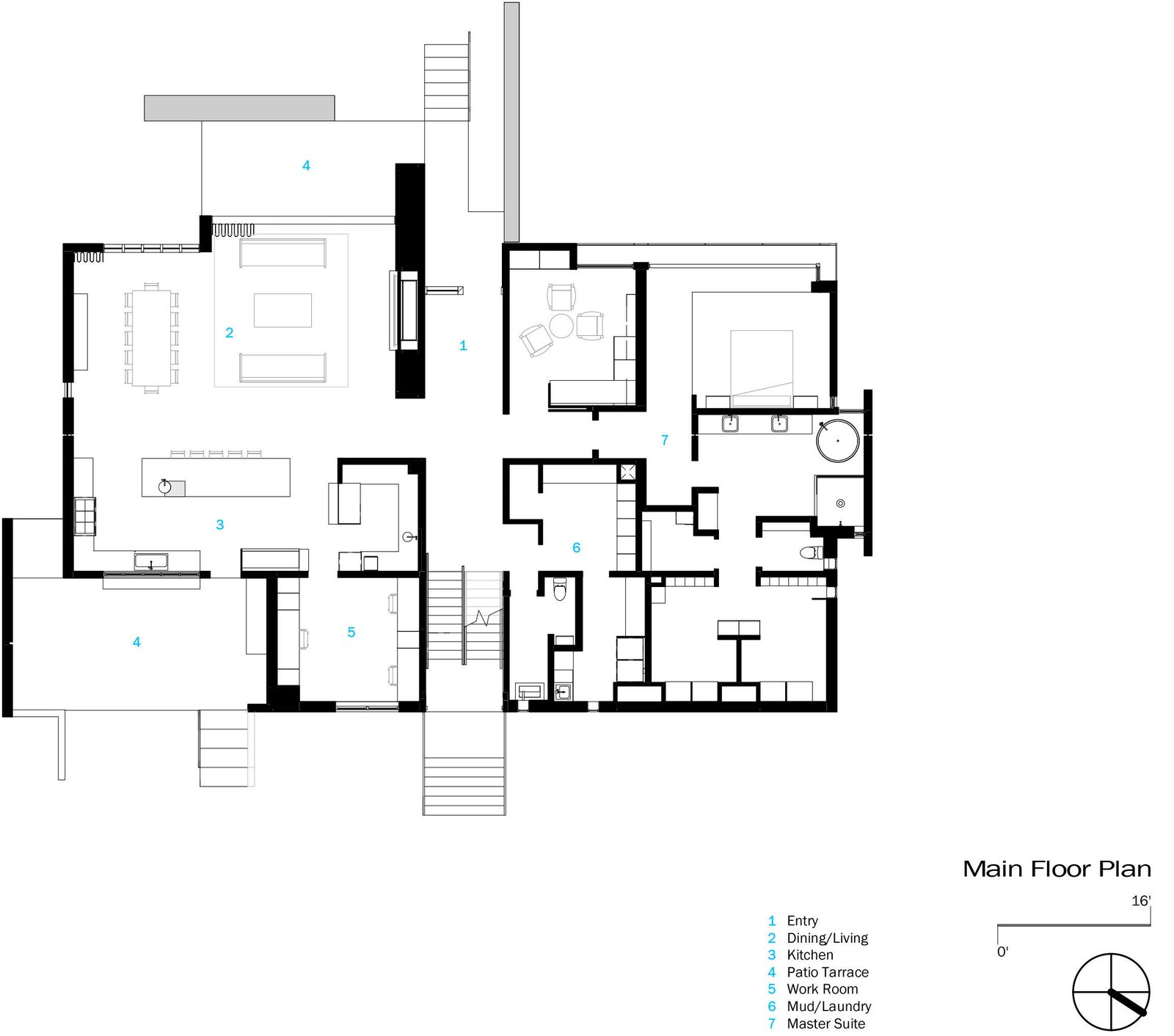 Main Floor Plan  Photo 17 of 18 in An Uplifting Lake Tahoe Retreat Uses Light as a Building Material