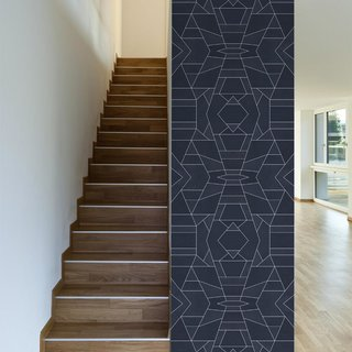 This Geo Blue design was created by Elisabeth Fredricksson.