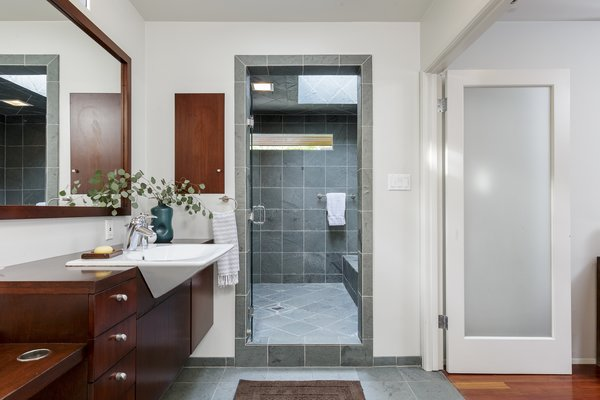A spa-like master bath even has a relaxing wet room.