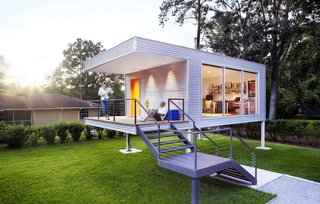 The elevated office also won an award for its sleek design.