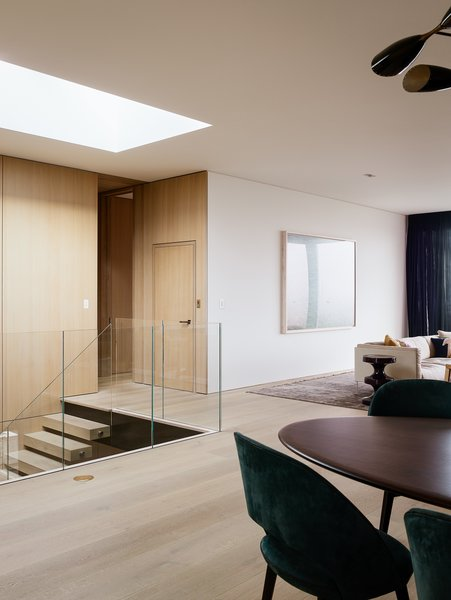 One of the architects' main focuses during the remodel was opening up the interior space.