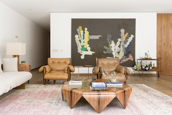 The open plan was designed for family gatherings and easy entertaining.