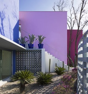 The architects cite an admiration for the use of color in both Mexican vernacular architecture and the work of Mexican master architects Luis Barragán and Ricardo Legorreta, using strong colors as an homage to their work.