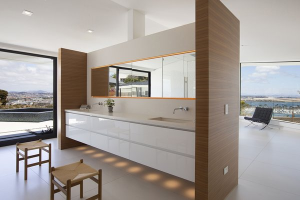 Low emission 45 x 60-inch Italian ceramic floor tiles were used throughout.