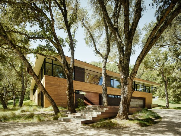 This Stunning Home Hugs the Contours of an Oak-Covered Hill