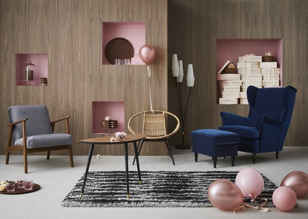The designs from the 1950s-60s capture the midcentury period, embracing classic lines and darker woods.