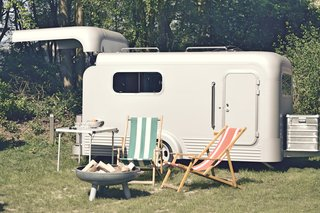 This Sleek Travel Trailer Has a Pull-Back Roof For Stargazing