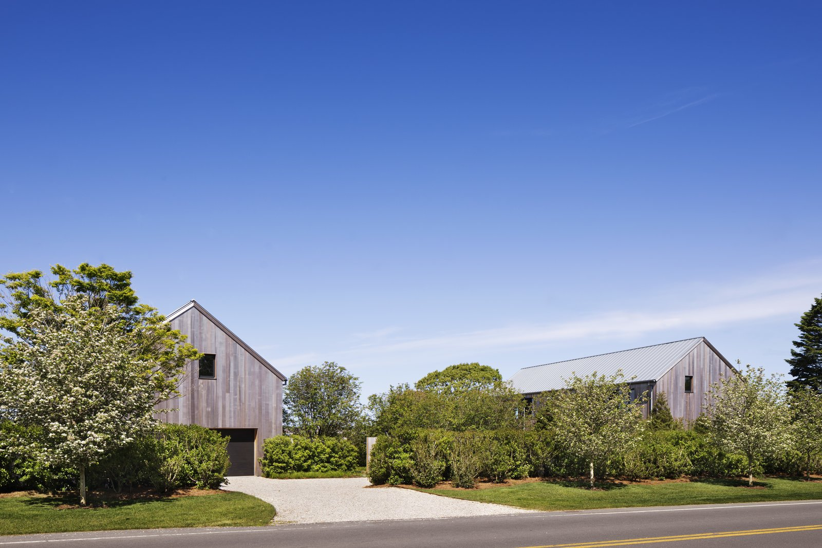 Exterior, Beach House, House, Wood, Gable, and Metal The East Lake House.  Best Exterior Beach House Gable Photos from Two Cedar-Clad Structures Form a Unique Montauk Retreat