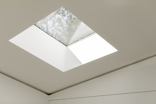 Strategically designed skylights maximize natural light.